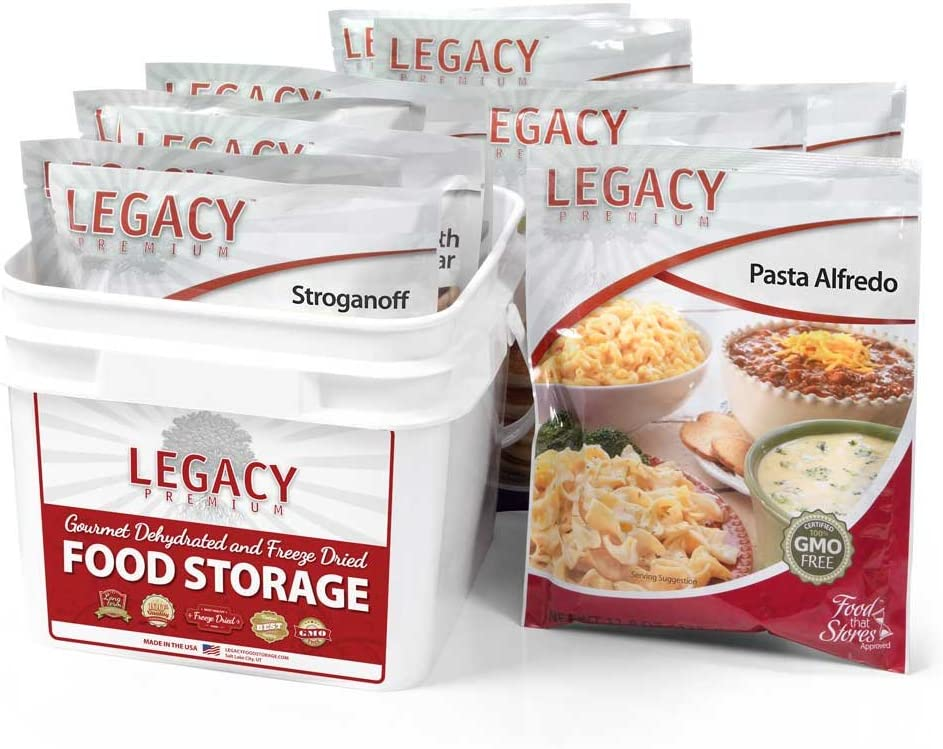 6 Day Emergency Food Supply Kit - 11,800 Total Calories - 9 lbs - 32 Servings, 8 Entrees - Disaster Relief - Survival Preparedness Supplies - Dehydrated/Freeze Dried Food Storage