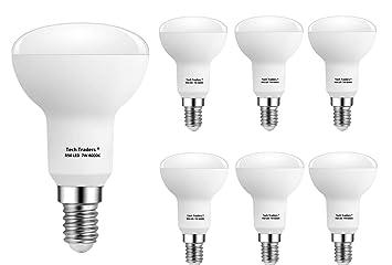 Bombillas LED R50 E14 reflectoras, de Tech Traders, 7 W, color blanco frío: Amazon.es: Iluminación