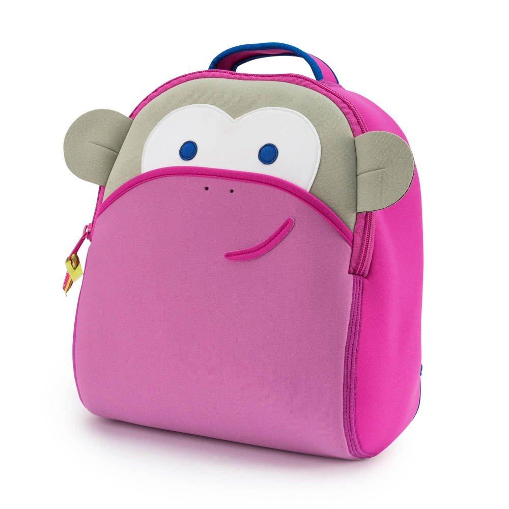 Dabbawalla Bags Blushing Pink Monkey Kid s Toddler   Preschool Backpack  Pink Grey f7b6735158d5c