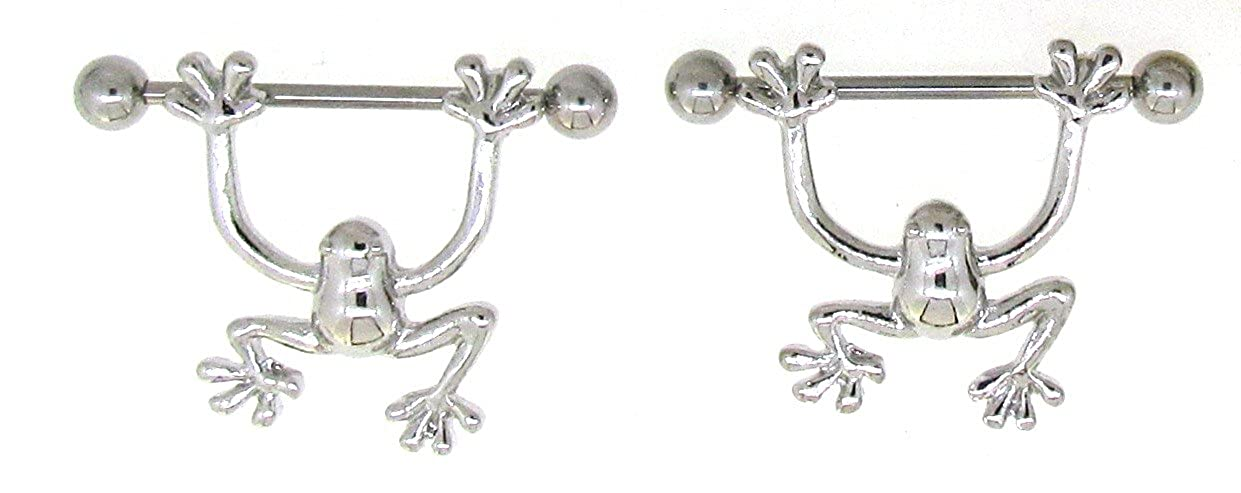 Nipple Ring Bars Frogs Body Jewelry Pair 14 gauge 9/16'''' BAR pair Body Colorz