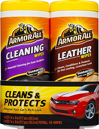 (Armor All 8761 Cleaning & Leather Wipes Two Pack (2 x 20/25 count))