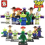 Toy Story 3 8 Piece size 1.8 inches 4.5 cm Super Heroes Assemble Figures Building Block No orignial box new in sealed bag