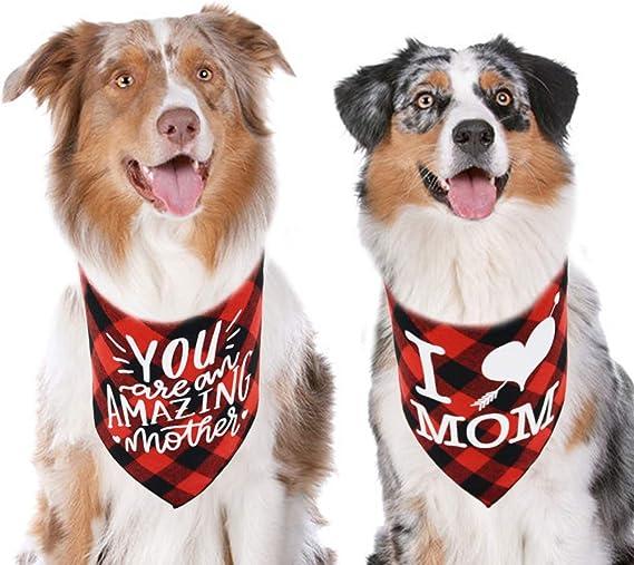 Easter Floral Spring Reversible Design Mom and Dog Matching Bandana Set