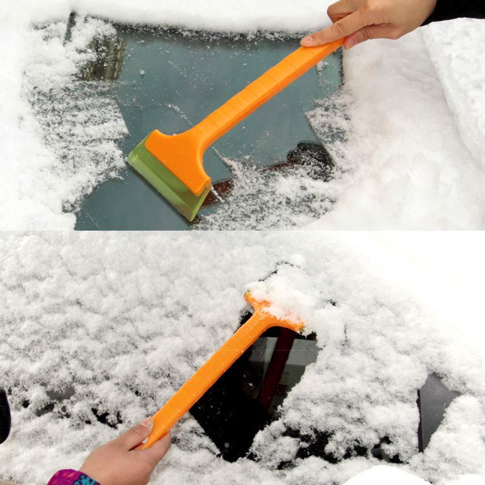 transparente herramienta de limpieza para invierno rascador de hielo amarillo Pala para parabrisas de coche mango largo parabrisas ventana