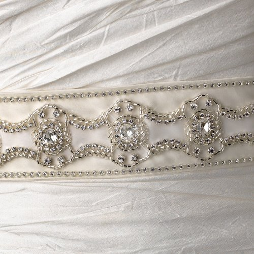 Pearls, Rhinestones & Beaded Wedding Sash Bridal Belt