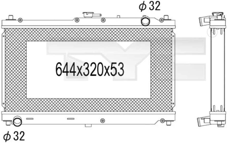 Enfriador MX-5/II NB Motor enfriador