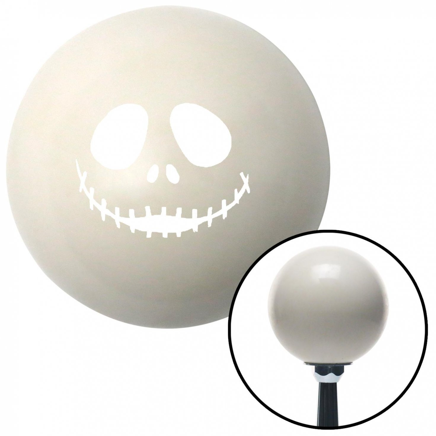 White Jack Zippered Mouth American Shifter 29549 Ivory Shift Knob with 16mm x 1.5 Insert
