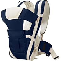 BabyGo Soft Adjustable 4-in-1 Baby Carrier Bag with Waist Belt (Navy Blue)