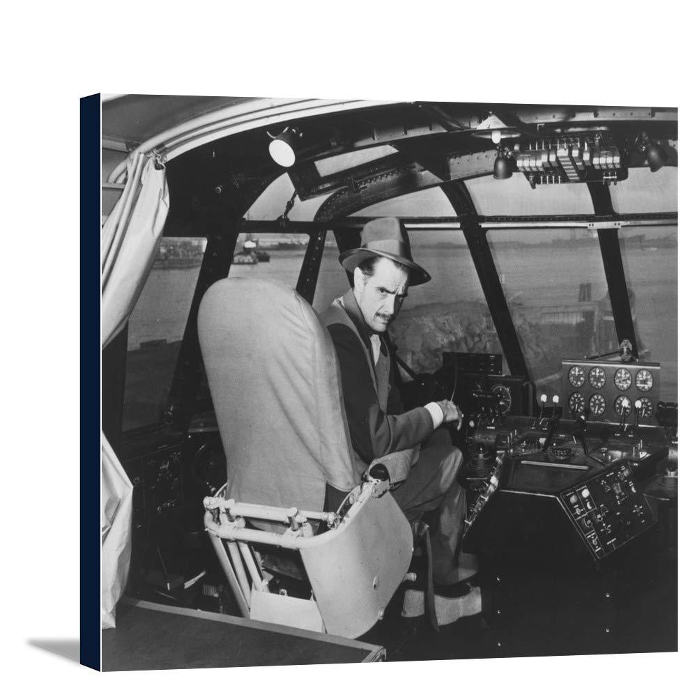 ハワードヒューズin Spruce Goose Wooden Plane写真 36 x 24 Gallery Canvas LANT-3P-SC-2972-24x36 B018C2CLPE  36 x 24 Gallery Canvas