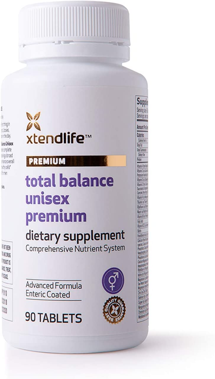 Xtend-Life Total Balance Unisex Premium Multivitamin, Daily Comprehensive Supplement, Men and Women, Anti Aging, (90 Tablets)