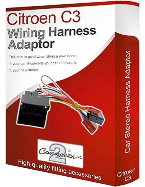 Citroen C3 05 on Car Stereo Radio ISO harness connector and aerial adaptor