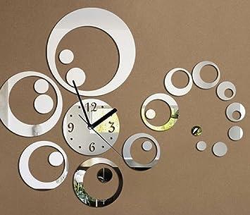 amazon.de: uraqt 3d modern wanduhr acryl, diy kreatives design ... - Wanduhr Für Wohnzimmer