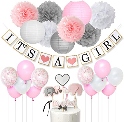 It/'s a Girl Baby Balloon Bouquet Welcome Home Baby Shower Pink Clothes~