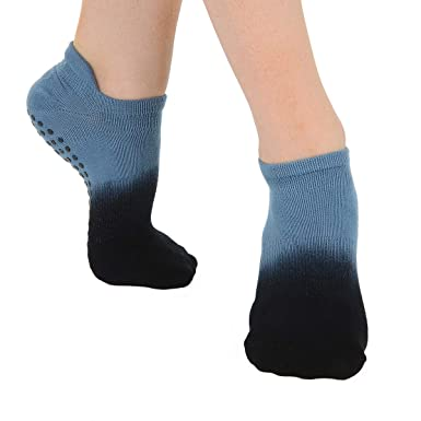 3e841fc98 Great Soles Women's Ombre Dyed Grip Socks for Yoga, Pilates, and Barre (Dusk