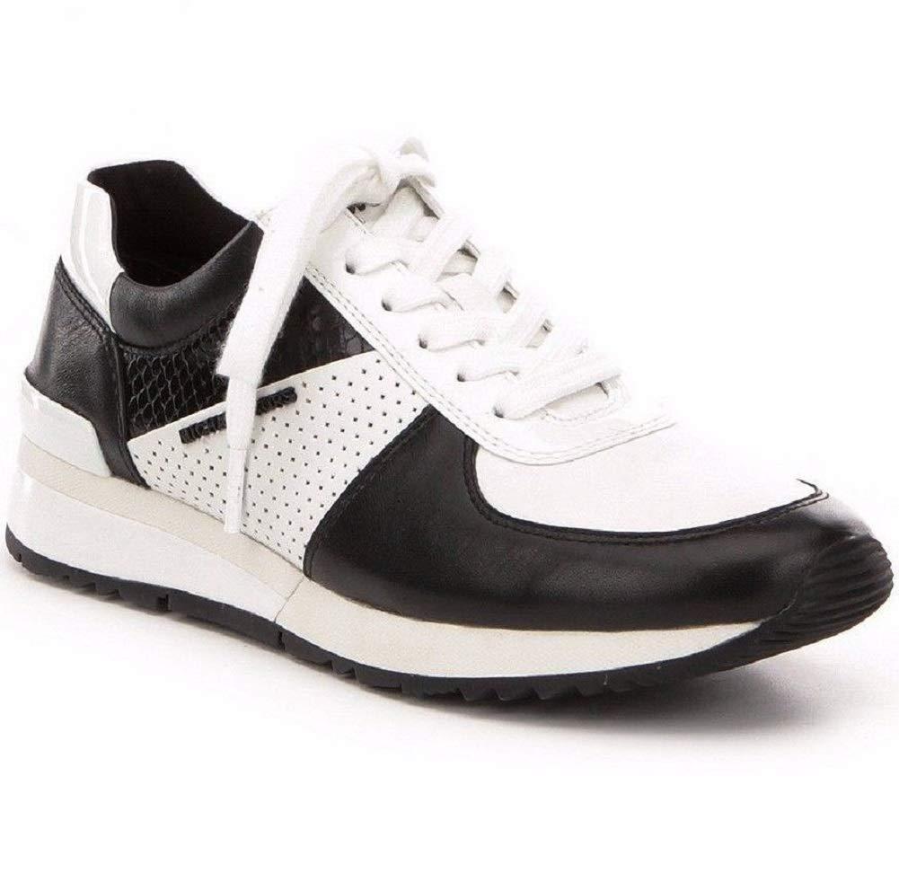 Michael Michael Kors Women's Allie Trainer (5 B(M) US, Black/Optic White)