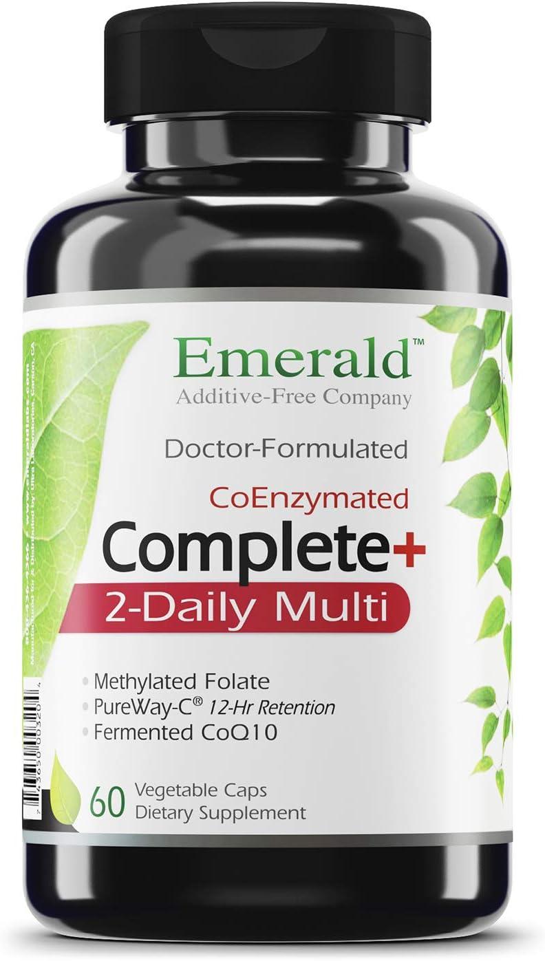 Complete 2-Daily Multi - Multivitamin with Coenzymes + Antioxidants + CoQ10 & Full Spectrum Carotenoids - Emerald Laboratories - 60 Vegetable Capsules