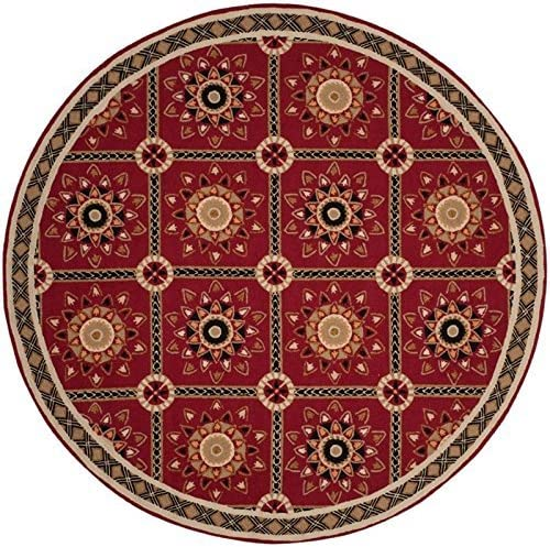 Safavieh Easy to Care Collection EZC711A Hand-Hooked Red and Natural Area Rug 8 x 10