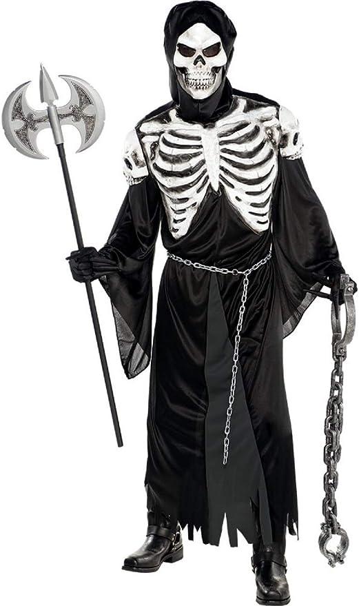 Fancy Me Disfraz para Hombre, Diseño de Esqueleto Creepy Spooky ...