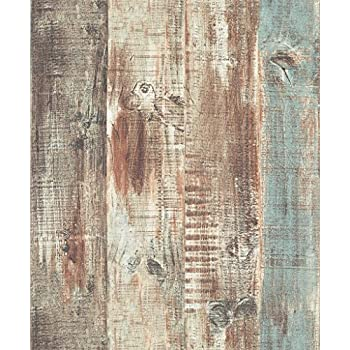 Blooming Wall Vintage Wood Panel Wood Plank Wallpaper Rolls Wall Paper Wall  Mural For Livingroom Bedroom Kitchen Bathroom  20 8 In32 8 Ft 57 Sq ft. Blooming Wall Faux Vintage Wood Panel Wood Plank Wallpaper Rolls