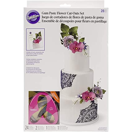 Amazon Wilton 2109 7987 Gum Paste Outs Piece 28 Pc Gp Flowers