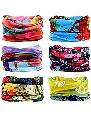 6PCS Outdoor Hair Headband Elastic Seamless Bandana Scarf UV Resistence Sport Head Bands