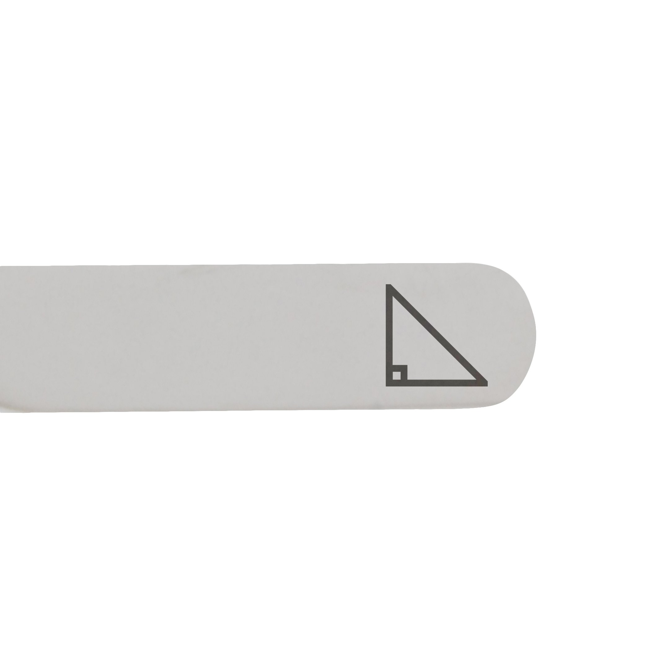 MODERN GOODS SHOP Stainless Steel Collar Stays With Laser Engraved Right Triangle Design - 2.5 Inch Metal Collar Stiffeners - Made In USA by Modern Accessories Co (Image #2)