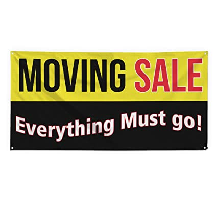 amazon com moving sale everything must go outdoor fence sign vinyl