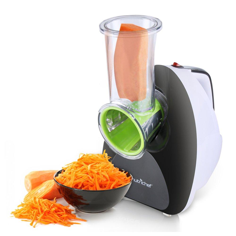 NutriChef PKELS70_0 Salad Maker - Electric Fruit & Vegetable Slicer, Chopper, Grater, Shredder