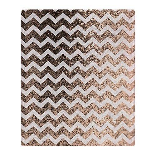 CafePress Glitter Bling Sparkly Chevron Patter Soft Fleece Throw Blanket, 50