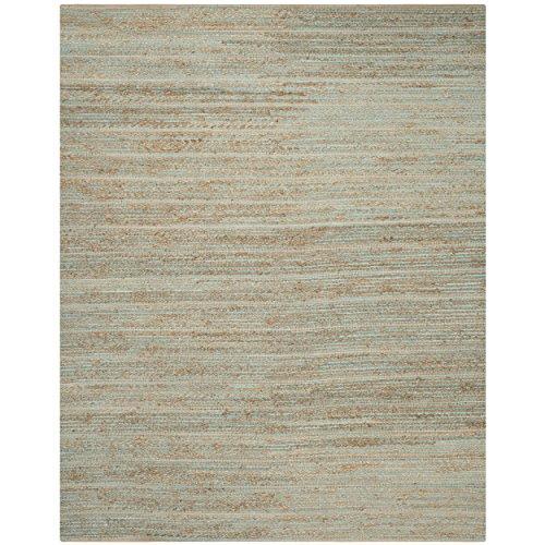 Safavieh Cape Cod Collection CAP851D Hand Woven Aqua Jute and Cotton Area Rug (9' x 12') ()