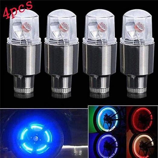 Bike Bicycle Car Motor Auto Wheel Tire Tyre Air Valve Stem LED Light Caps Cover