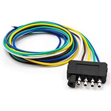 Amazon.com: TIROL 5-Way Flat Trailer Wire Harness Extension ...