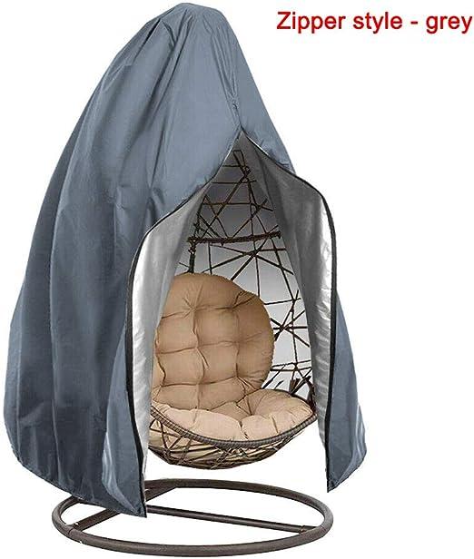 Verdelife - Funda para silla de jardín colgante de jardín, impermeable, antipolvo, 190 x 115 cm, Gery: Amazon.es: Jardín