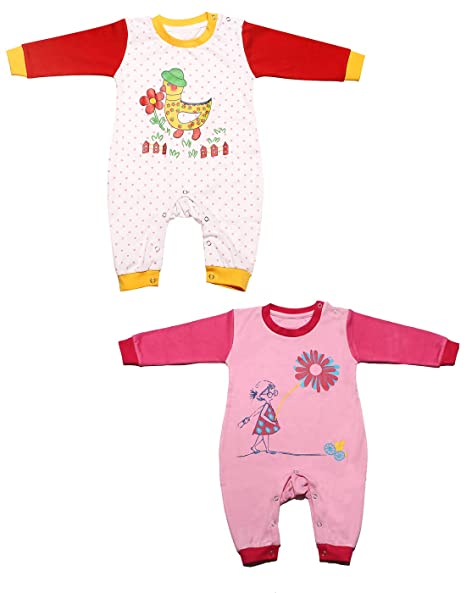 a6d5586d2 Babeezworld Baby Full Sleeve Diaper Friendly Printed Cotton Romper ...