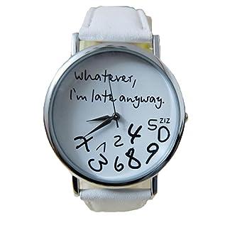 Xinantime Relojes Pulsera Mujer,Xinan Reloj de Cuero Letra Relojes (Blanco): Amazon.es: Deportes y aire libre