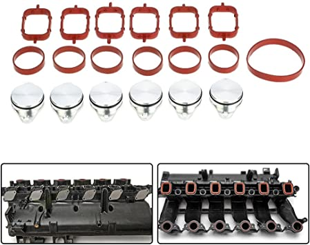 Kkmoon Ersatz Diesel Wirbelklappen Mit Ansaugkrümmer Dichtungen 33 Mm Für Bmw 320d 330d 520d 525d 530d 730d 4 Stück Auto