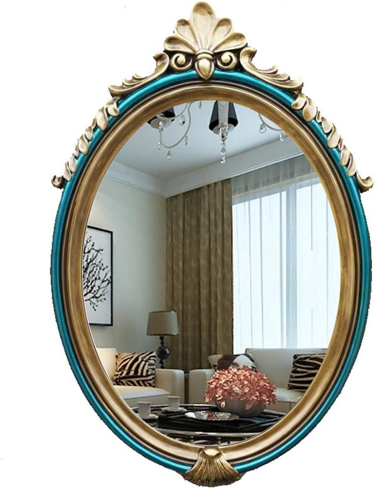 Amazon Com Wall Mirror Oval Vintage Retro Shabby Chic Style Bathroom Mirror Wall Hanging Decorative Vanity Mirror Makeup Mirror 37x57cm Home Kitchen