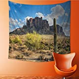 Vanfan Decorative Wall tapestry Famous Cany Cliff with Dramatic Cloudy Sky Southwest Terrain Place Nature Decor Bedding 32W x 32L Inch