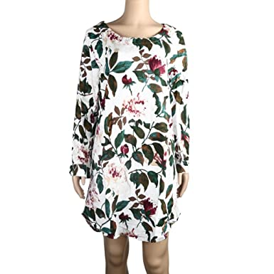 Affordable Plus Size Clothing >> Leewos Clearance Plus Size Dresses Women Floral Printed