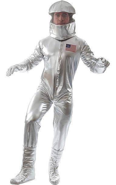 ORION COSTUMES Disfraz de Astronauta Plateado Traje Espacial ...
