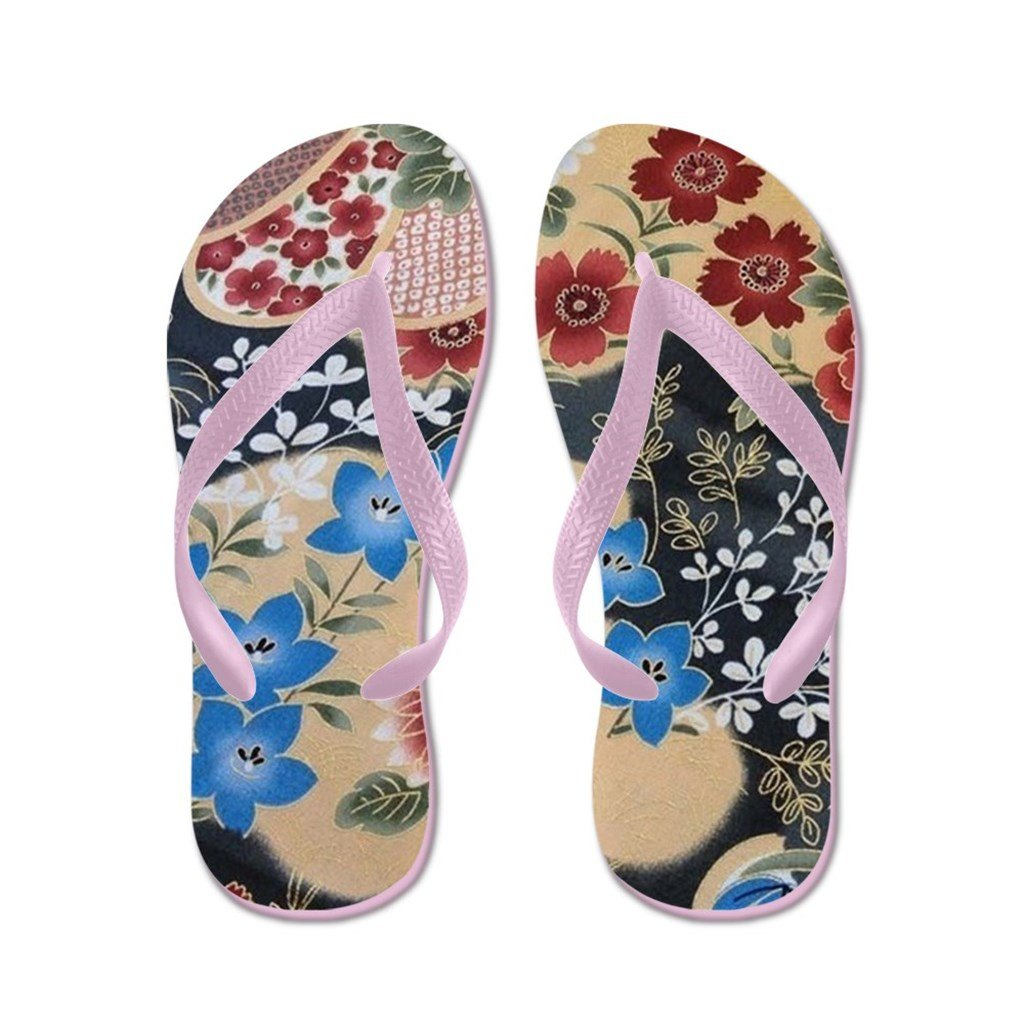 Lplpol Floral Japanese Textile Flip Flops for Kids and Adult Unisex Beach Sandals Pool Shoes Party Slippers