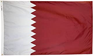 product image for Annin Flagmakers Model 196877 Qatar Flag 3x5 ft. Nylon SolarGuard Nyl-Glo 100% Made in USA to Official United Nations Design Specifications.