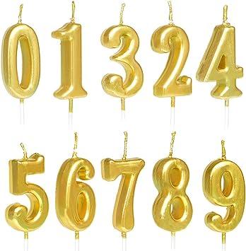 Amazon.com: QYPRMX - Velas numeradas para tartas, número 0 a ...