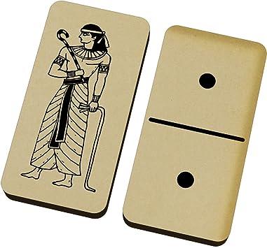 Azeeda Faraón Egipcio Domino Juego y Caja (DM00014943): Amazon.es: Juguetes y juegos