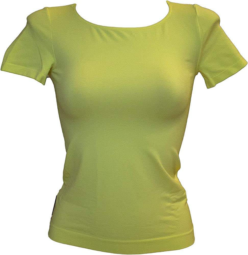 SENSI Camisetas Mujer Cuello Alto Mangas 3//4 Sin Costuras