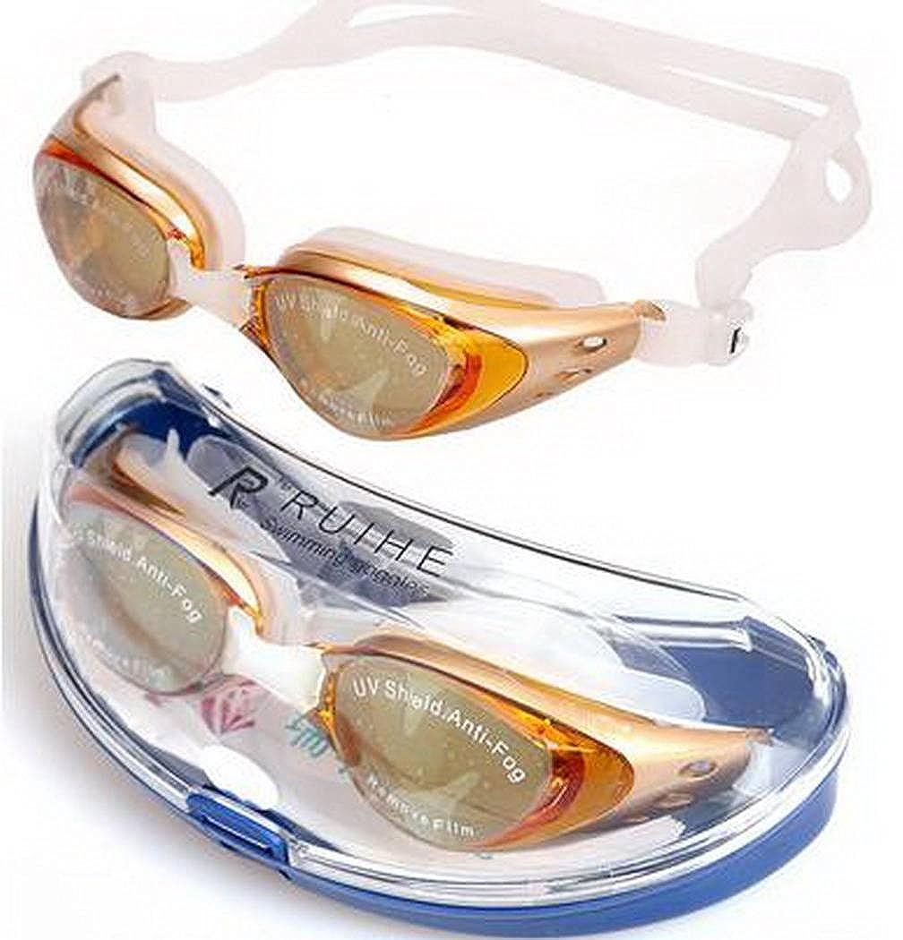 Xiang Ru Non-Fogging Anti UV Swimming Goggles Glasses Adjustable With Box