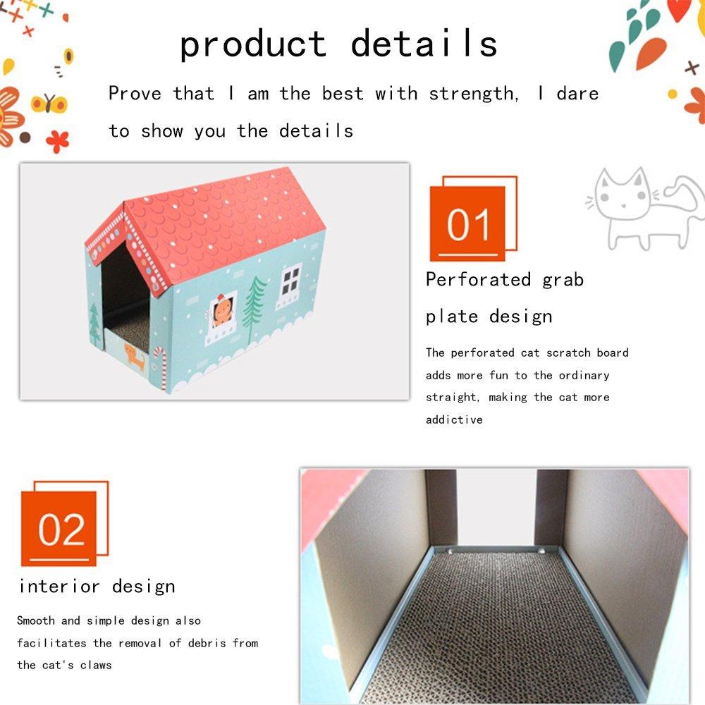 L&XY Cat Scratch Board Gato Casa Acanalada Papel Casa Reciclable Cartulina Proteger Su Muebles Rasguño Almohadilla Almohadilla Gato Interior Apartamento ...