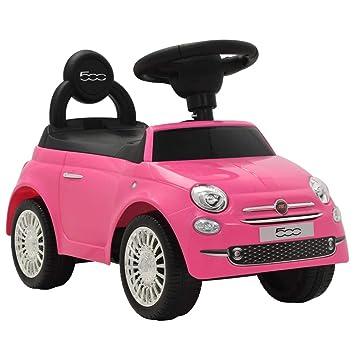 Juego Infantil Vehículo Vidaxl Coche 500 Rosa Correpasillos Fiat Auto Juguete n0PNwO8kX