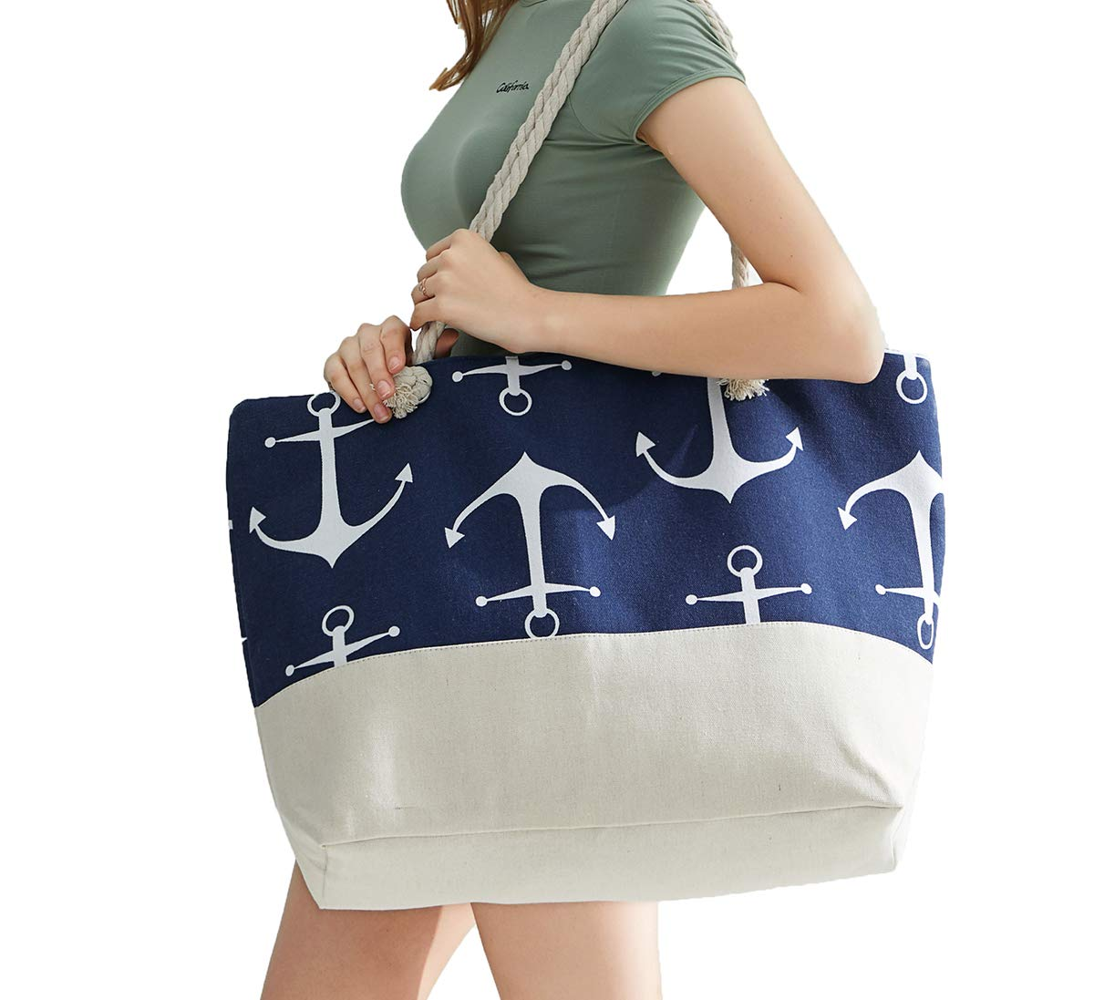 OZCHIN Beach Bag Large Tote Bag for Women Great Gifts for Women (XL)