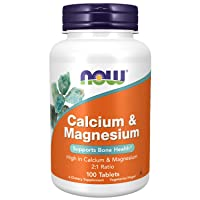 NOW Supplements, Calcium & Magnesium 2:1 Ratio, High Potency, Supports Bone Health...